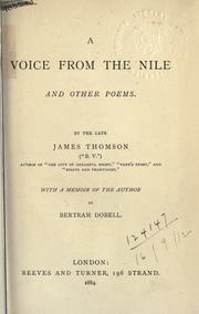 Cover of: A voice from the Nile, and other poems: With a memoir of the author by Bertram Dobell.