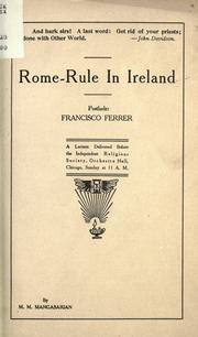 Cover of: Rome-rule in Ireland