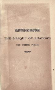 Cover of: The masque of shadows: and other poems