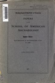 Cover of: Explorations in southwestern Utah in 1908