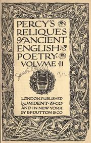 Cover of: Percy's reliques of ancient English poetry
