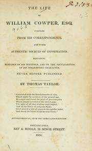 Cover of: The life of William Cowper, esq
