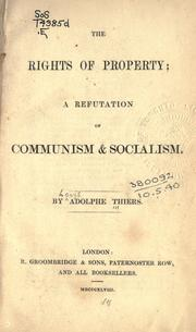 Cover of: The rights of property