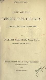 Cover of: Life of the Emperor Karl the Great