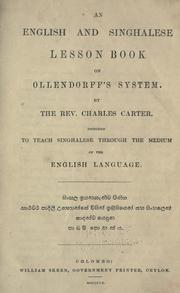 Cover of: English and Sinhalese lesson book on Ollendorff's system