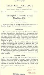 Cover of: Redescription of Ischadites koenigii Murchison, 1839