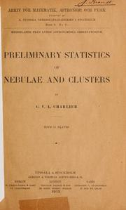 Cover of: Preliminary statistics of nebulae and clusters