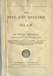 Cover of: The rise and decline of Islam