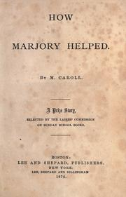 Cover of: How Marjorie helped