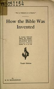Cover of: How the Bible was invented