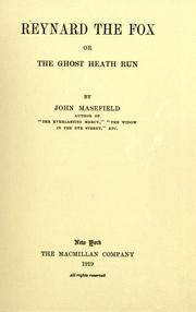 Cover of: Reynard the fox: or, The Ghost Heath run