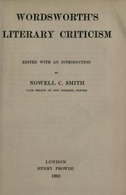 Cover of: Literary criticism