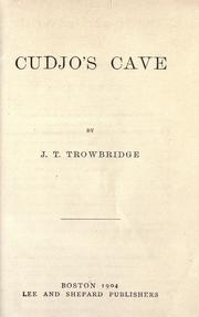 Cover of: Cudjo's cave