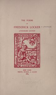 Cover of: The poems of Frederick Locker