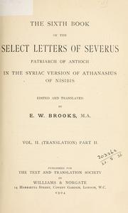 Cover of: Select letters - Sixth book