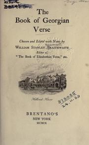 Cover of: The book of Georgian verse