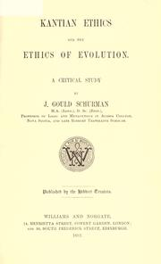 Cover of: Kantian ethics and the ethics of evolution