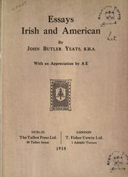 Cover of: Essays, Irish and American