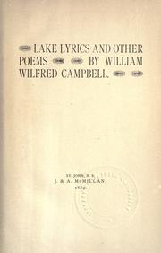 Cover of: Lake lyrics and other poems