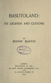 Cover of: Basutoland: its legends and customs