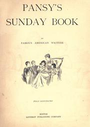 Cover of: Pansy's Sunday book
