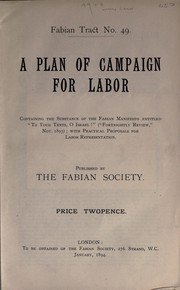 Cover of: A plan of campaign for labor