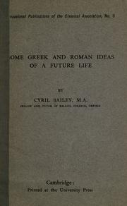 Cover of: Some Greek and Roman ideas of a future life