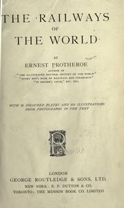 Cover of: The railways of the world