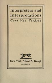 Cover of: Interpreters and interpretations
