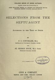 Cover of: Selections from the Septuagint