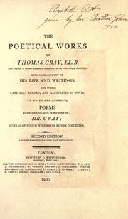 Cover of: The poetical works of Thomas Gray