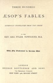 Cover of: Three hundred Aesop's fables