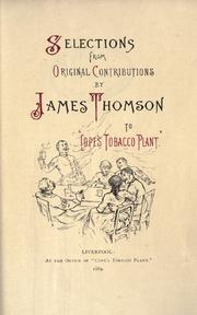 "Cover of: Selections from original contributions by James Thomson to ""Cope's Tobacco Plant."""