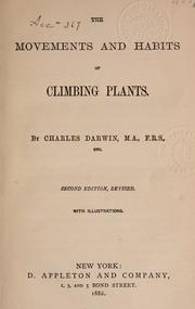 Cover of: The movements and habits of climbing plants
