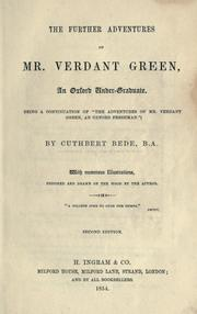 "Cover of: The further adventures of Mr. Verdant Green, an Oxford undergraduate: (being a continuation of ""The adventures of Mr. Verdant Green ..."")"