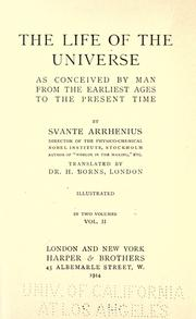 Cover of: The life of the universe as conceived by man from the earliest ages to the present time