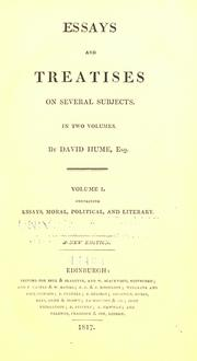 Cover of: Essays and treatises on several subjects