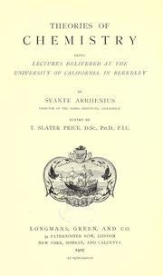 Cover of: Theories of chemistry