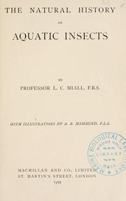 Cover of: The natural history of aquatic insects