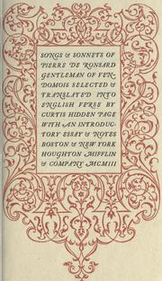 Cover of: Songs & sonnets of Pierre de Ronsard