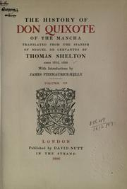 Cover of: The history of Don Quixote of the Mancha