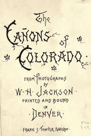 Cover of: The canons of Colorado