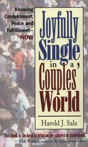 Cover of: Joyfully single in a couples' world