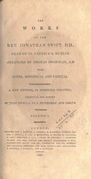 Cover of: Works: Arr. by Thomas Sheridan, with notes, historical and critical.  New ed., corr. and rev. by John Nichols.