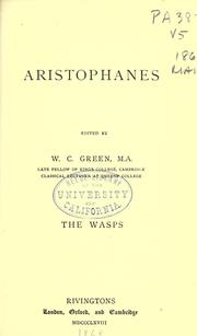 Cover of: The  wasps of Aristophanes