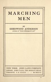 Cover of: Marching men / by Sherwood Anderson