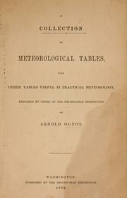 Cover of: A collection of meteorological tables with other tables useful in practical meteorology