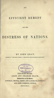 Cover of: An efficient remedy for the distress of nations