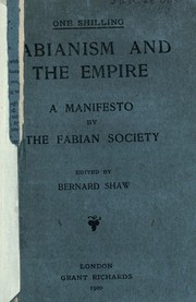Cover of: Fabianism and the empire