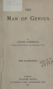 Cover of: The man of genius